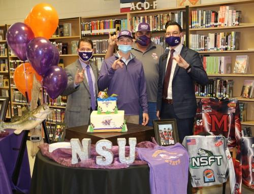 Many High School senior signs with NSU Fishing Team